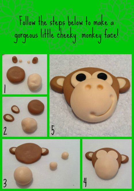 Adorable little monkey made from fondant - step by step guide!