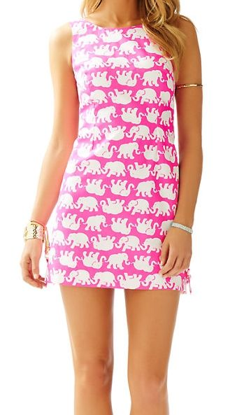 Lilly Pulitzer Delia Shift Dress in Pop Pink Tusk In Sun