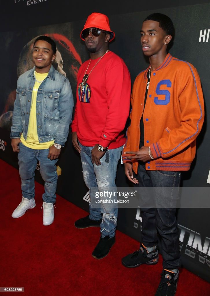 Justin Combs, Sean 'Diddy' Combs, and Christian Combs attend the Premiere Of Riveting Entertainment's 'Chris Brown: Welcome To My Life' at L.A. LIVE on June 6, 2017 in Los Angeles, California.