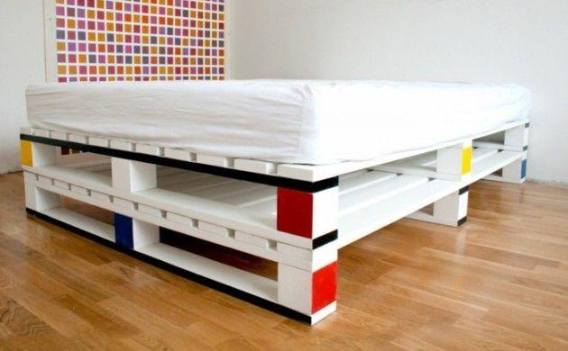 Europalettenbett 45 Alternativen Fur Das Kinderzimmer In 2020 Wood Pallet Beds Pallet Bed Frames Diy Pallet Bed