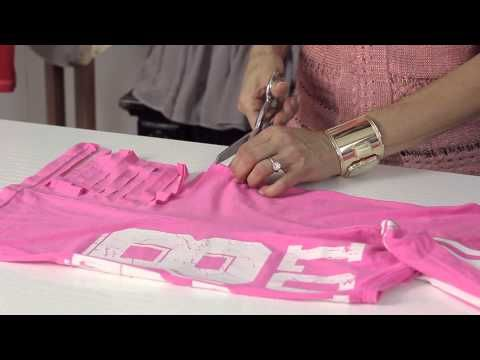 How to Restyle Your Big, Old T-Shirts With a Fringe on the Side : Shirt Modifications - YouTube