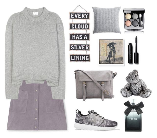 """""""Cloudy days"""" by gul07 ❤ liked on Polyvore featuring Rebecca Minkoff, Acne Studios, NIKE, Silver Lining, Elvang, Royal Selangor, Bobbi Brown Cosmetics, Torrid and Chanel"""