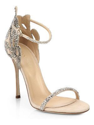 96648b675 Sergio Rossi Rhinestone suede sandals