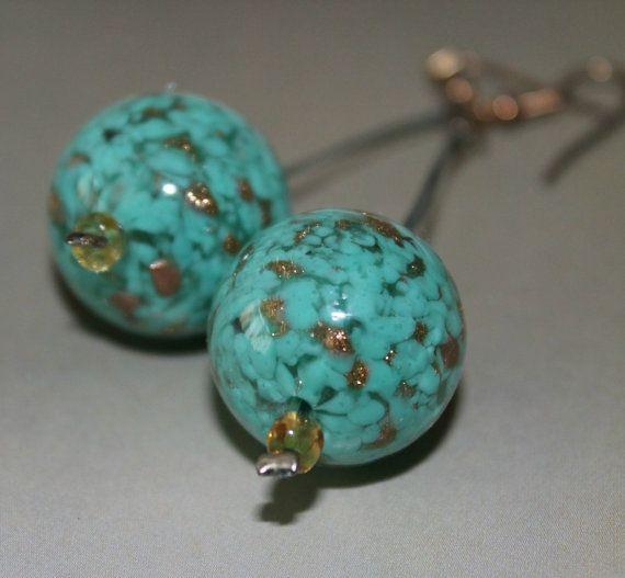Jewelry/Handmade Earrings/Murano earrings/Dangle by Ninodesigns