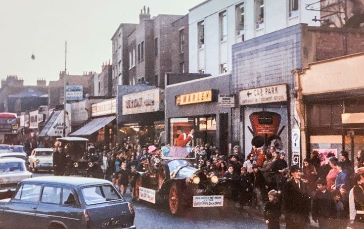 Chitty Chitty Bang Bang visits Rye Lane, Peckham South East London England in 1969