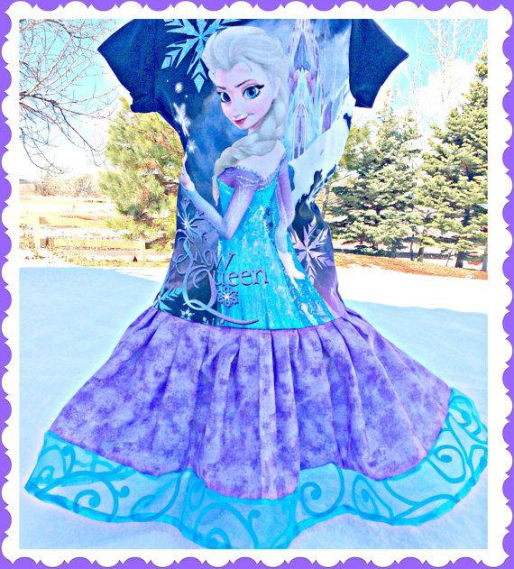 Private for RACHEL girls FROZEN Princess Elsa Disney fabric twirl party Dress size 10/12