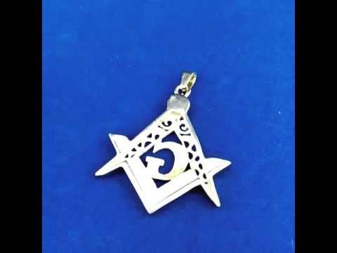 The amazing 45MM Gold Stainless Steel Freemasons Pendant!!!