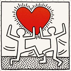 Keith Haring, Untitled, 1982 Painting Acrylic On Vinyl 180 x 180 inches 457 x 457 cm