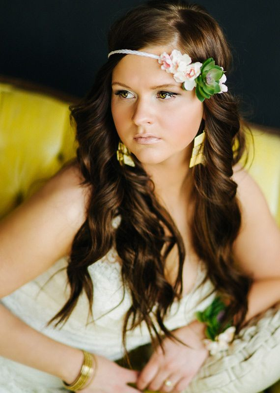 Succulent headband | photos by Christine McGuigan | 100 Layer Cake