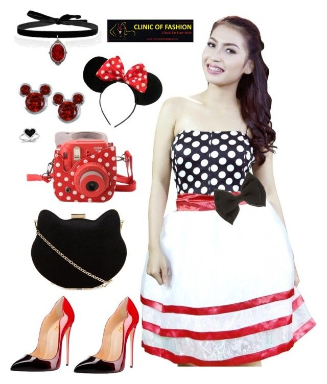 """Minnie mouse"" by clinicoffashion on Polyvore featuring New Look, Fujifilm, Disney and Kevin Jewelers"