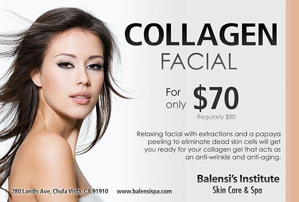 Collagen Facial Original Price $80.00 Monthly Promo for March $70.00