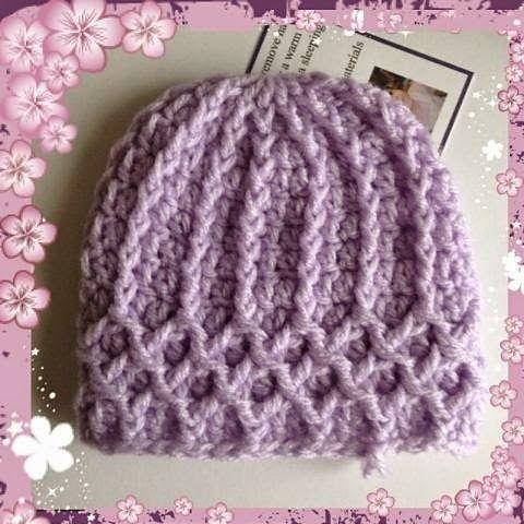 Lattice Premie Hat Free Crochet Pattern from JR Crochet  ༺✿Teresa Restegui http://www.pinterest.com/teretegui/✿༻