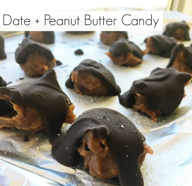 Date + Peanut Butter Candy | The Friendly Fig