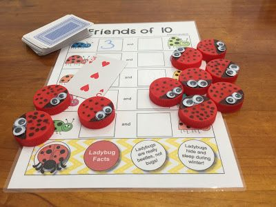 Generate conversation about topics beyond straight maths (and not just keep the natural world in science)! Connect this activity with the natural world outside of the classroom by making ladybug counters to accompany this Friends of 10 activity.