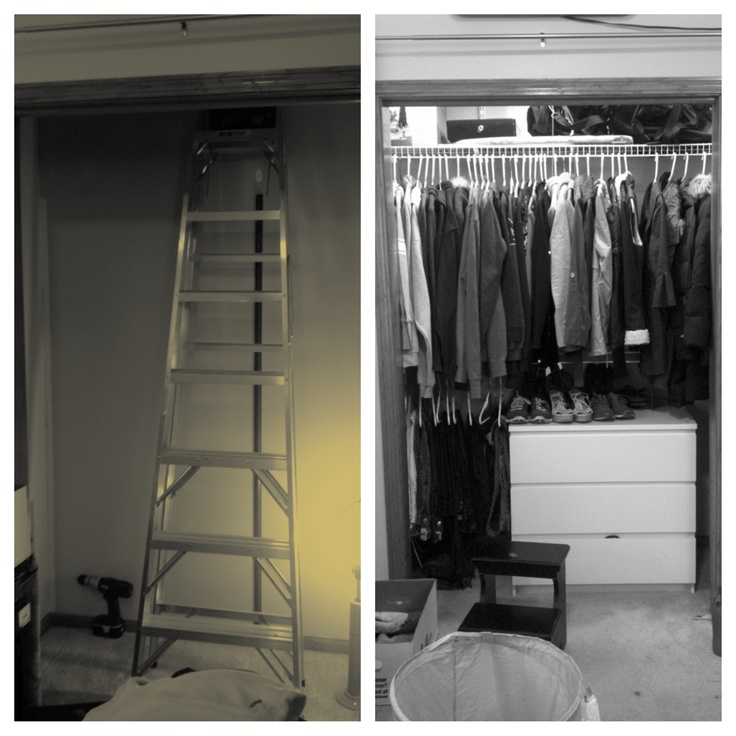 new closet that will not fall again!
