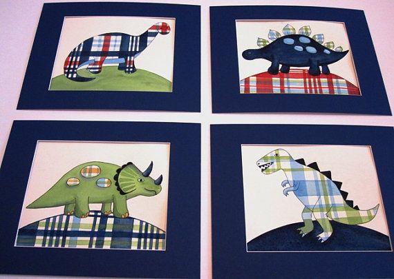 Madras+dinosaur+nursery+wall+art+boy+kids+dino+prints+by+terezief,+$21.00