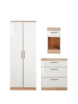 awesome Montreal 3-Piece Ready Assembled Package &Ndash; 2-Door Wardrobe, 3-Drawer Chest And Bedside Table Check more at http://hasiera.co.uk/s/bedroom/product/montreal-3-piece-ready-assembled-package-ndash-2-door-wardrobe-3-drawer-chest-and-bedside-table/