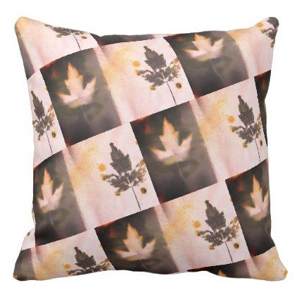 Beautiful Sangria Tone Original Art Maple Leaf Throw Pillow - bridal shower gifts ideas wedding bride