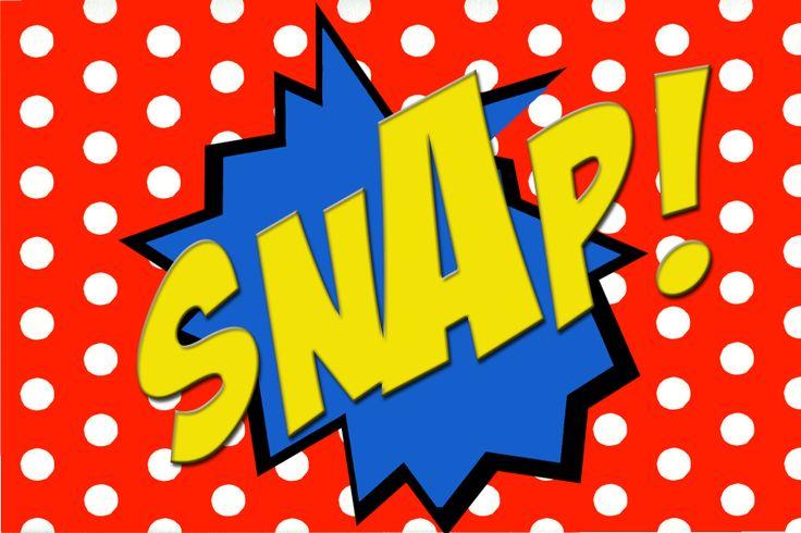 free printable snap  comic book word