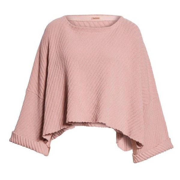 Women's Free People I Can'T Wait Crop Sweater ($108) ❤ liked on Polyvore featuring tops, sweaters, rose, pink rose tops, cut-out crop tops, cropped ribbed sweater, cropped sweater and pink cropped sweater