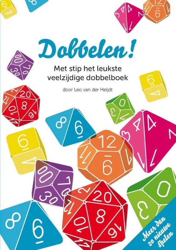 Boek met leuke dobbelsteen spelletjes. Er is een set met verschillende soorten dobbelstenen inbegrepen. Leuk om rekenspelletjes mee te spelen.