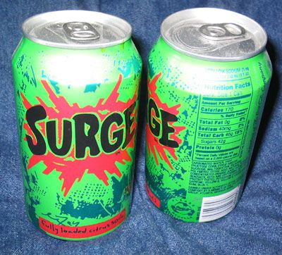 I don't know what hurts more, Surge, sour Altoids or my LIME Skittles. 35 Foods From Your Childhood That Are Extinct Now.