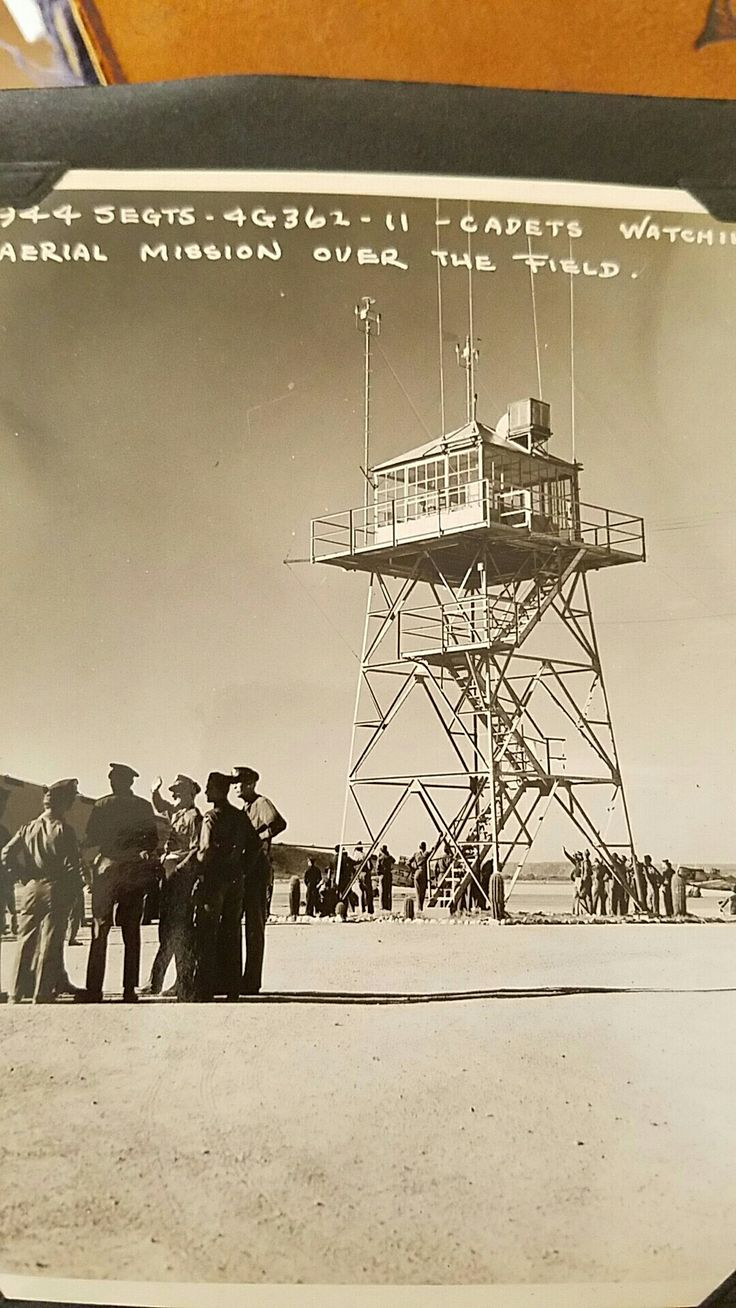Ajo Airbase Tower 1944. -Lloyd G. Culbreth collection
