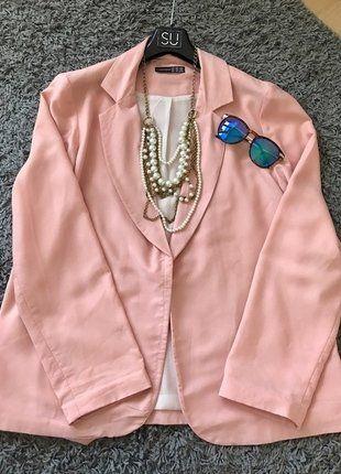 Kup mój przedmiot na #vintedpl http://www.vinted.pl/damska-odziez/marynarki-zakiety-blezery/17314854-piekny-zakiet-w-kolorze-pudrowego-rozu
