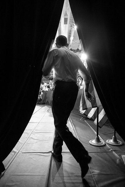President Barack Obama takes the stage to deliver remarks on housing and home ownership at Desert Vista High School in Phoenix, Ariz., Aug. 6, 2013.