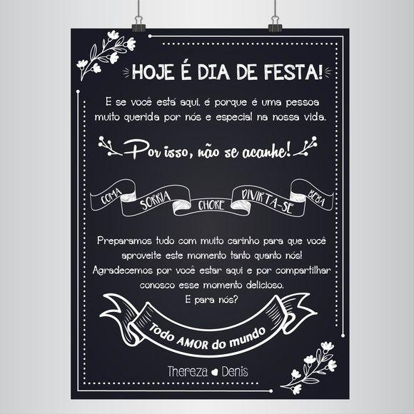 Poster Chalkboard Todo Amor Do Mundo