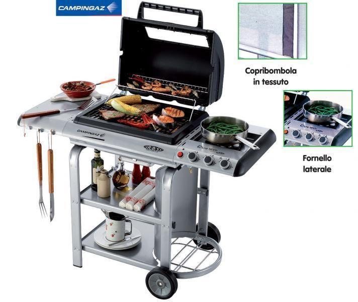 (1509) Campingaz barbecue a gas mod RBS C-LINE 1900D in acciaio cm 127x56x112h