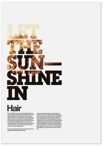 Why do you like it? The text emphasizes the words and imagery 'let the sunshine in'. From light to dark.