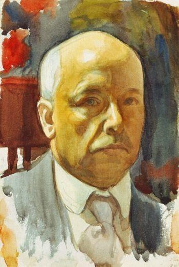 Self portrait Eero Jarnefelt - Erik Eero Nikolai Järnefelt (1863-1937)