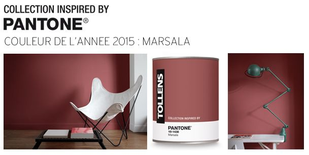 Marsala Pantone couleur 2015 - Tollens