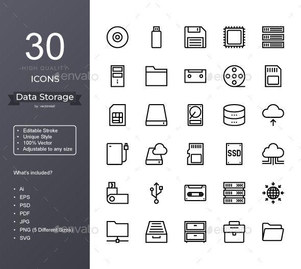 Data Storage Icons Internet Icon Data Storage Company Profile Design
