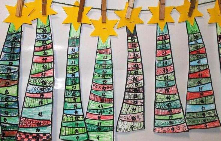 stromečkový adventní kalendář