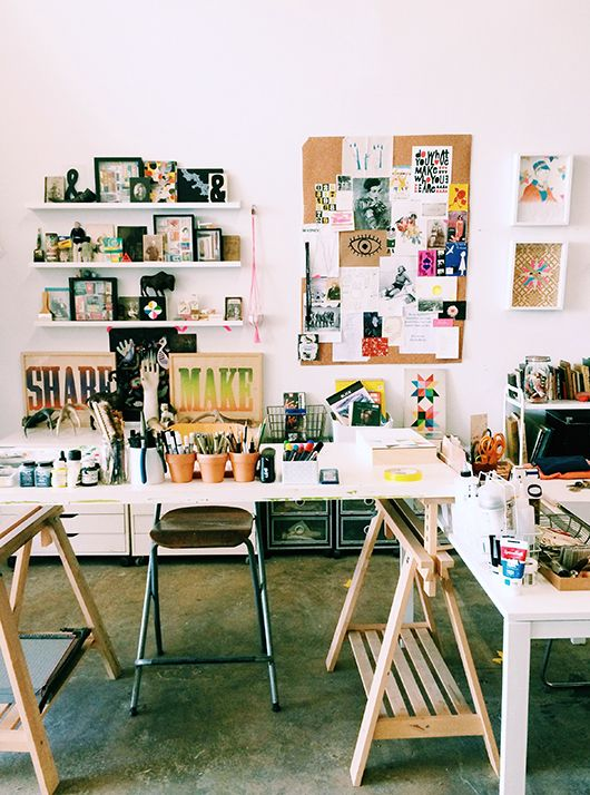 INSPIRATION: 6 Dreamy Work Spaces   http://adventures-in-making.com/inspiration-6-dreamy-work-spaces/