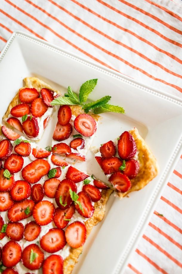 Strawberry Mint Tart | Carrie Ryan for Camille Styles
