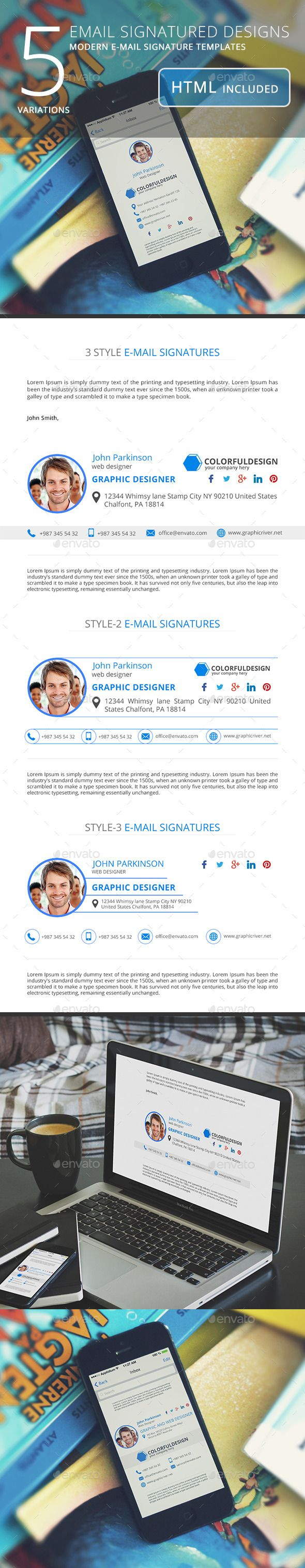 Email Signature Templates - Miscellaneous Social Media