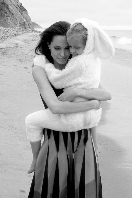 Angelina and Vivienne Jolie-Pitt by Annie Leibovitz for Vogue US, November 2015