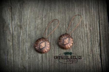 SALERustic Western Earrings Western Chic by cowgirlrelicsdesigns