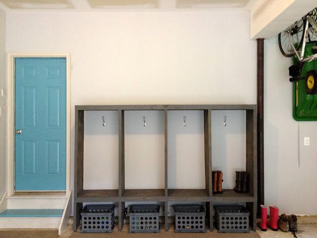 East Coast Creative: DIY Mudroom Lockers {Garage Mudroom Makeover}