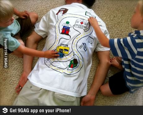 :)  How to get the kids to give you a back massage. LOL some days, this seems like a good idea!