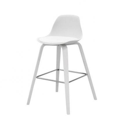 Zaki bárszék fehér/fehér láb – Bárszékek - ID Design Életterek - Étkező