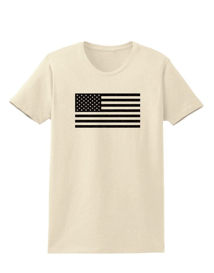 TooLoud American Flag Glitter - Black Womens T-Shirt