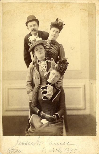 Jessie McNamee Utica April 1890 - (reverse) Taken at the Lunatic Asylum in Utica April 1890.
