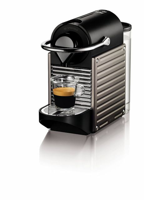 Espresso Machines Nespresso The Nespresso Pixie Espresso Maker, Electric Titan is a compact stylish espresso machine that has a small footprint so it is suitable for smaller kitchens that don't have a lot of counter space.  With this unit, you can make delicious espresso with crema or lungo in under a minute.