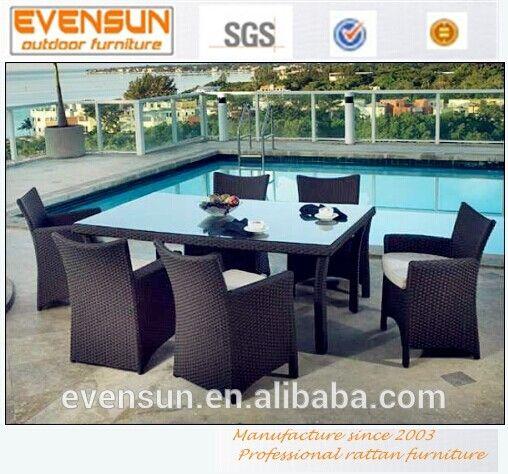 2014 hotsale ratán mimbre muebles de mimbre al aire libre de aluminio plástico sintético
