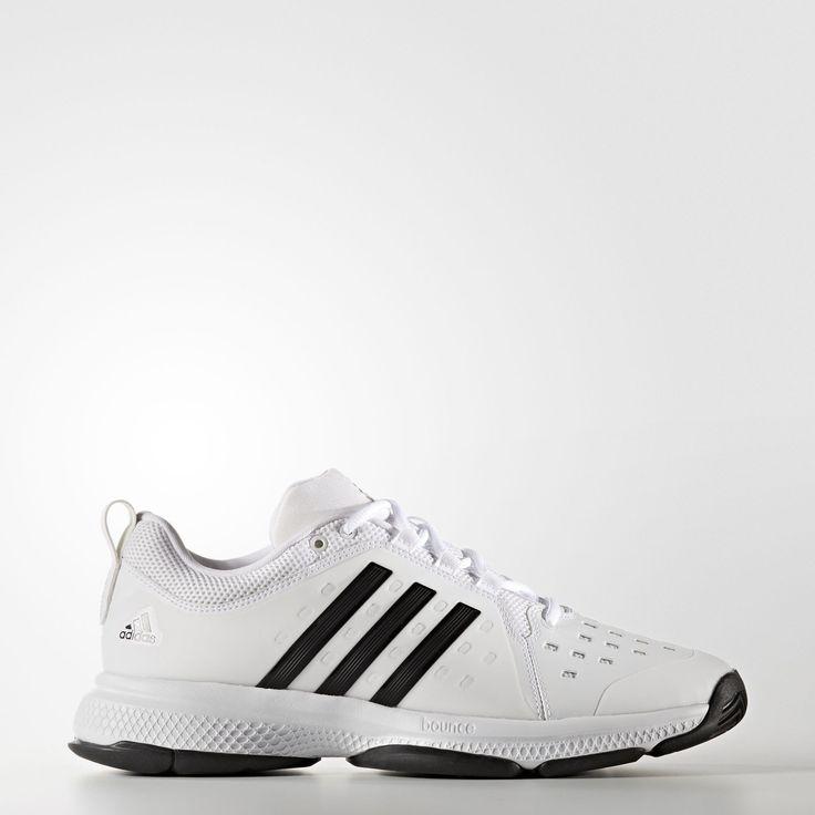 Adidas Barricade Classic Bounce Men's Tennis Shoes - White/black, Size: 14  D(M) US