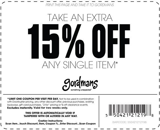 Pinned July 11th: Extra 20% off a single item at #Gordmans #coupon via The #Coupons App